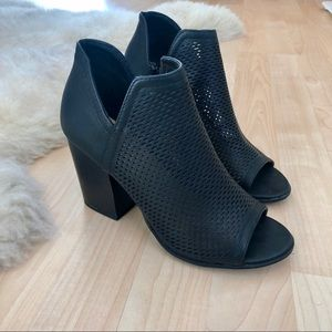 Open-Toe Perforated Side Slit Booties